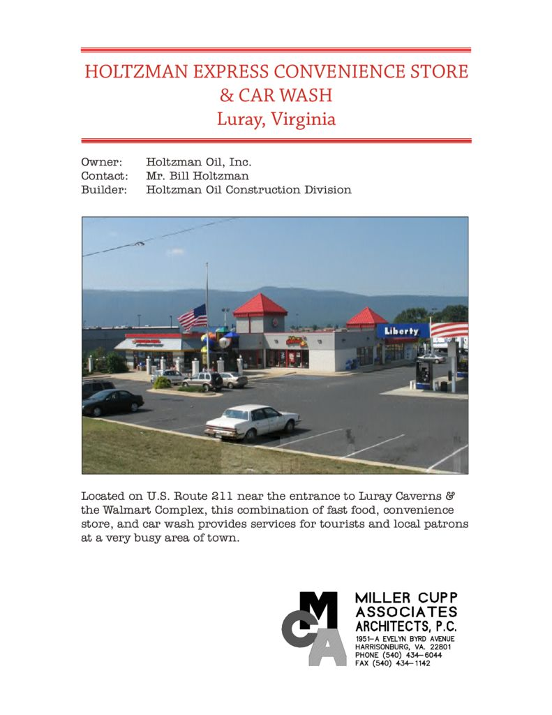Holtzman express convenience store and car wash