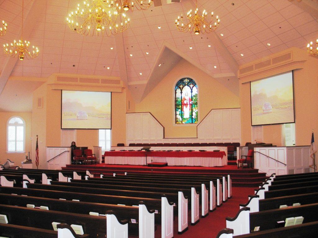 Memorial Baptist Church interior