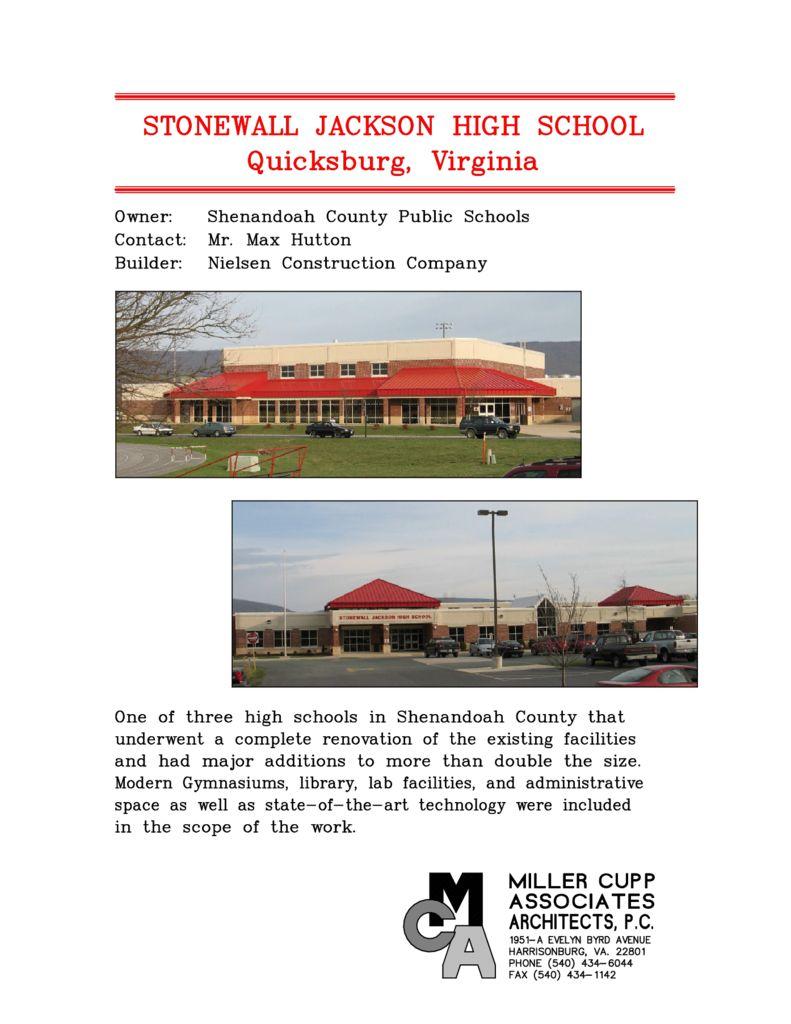 Stonewall Jackson High School