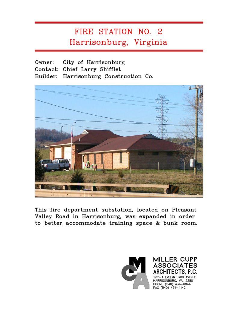 Harrisonburg Fire House No. 2