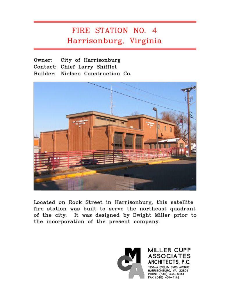 Harrisonburg Fire Station No. 4